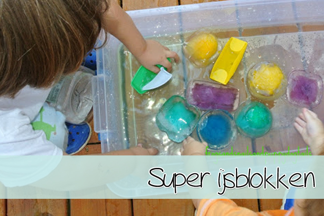 Spelen met SUPER ijsblokken