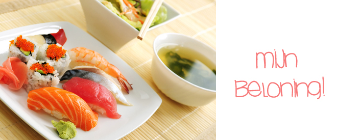 Als afsluiting gaan we vrijdag sushi eten