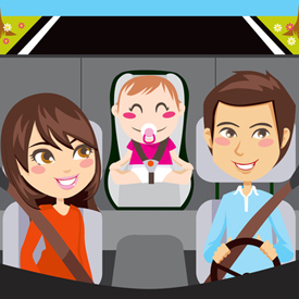 Baby's lopen gevaar in autostoeltjes