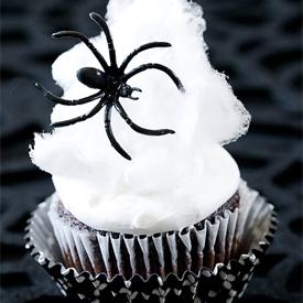 Traktatietip: Spinnenweb cupcakes