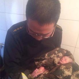Baby gevonden in riool