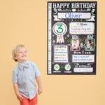 Birthday poster – oliver