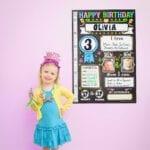 Birthday poster – olivia