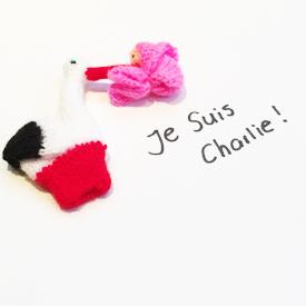Baby staat voor geweldloze toekomst; Je Suis Charlie