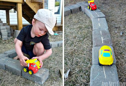 DIY kids racebaan