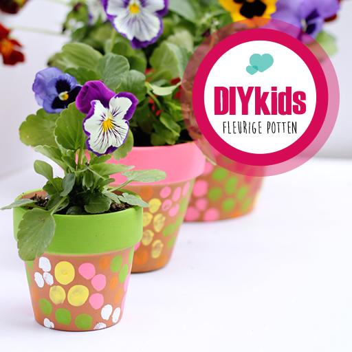 DIY kids fleurige potten