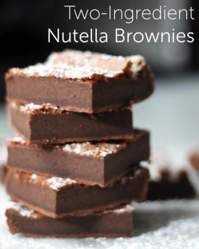 two ingredient nutella brownies - koekjes bakken met de kids