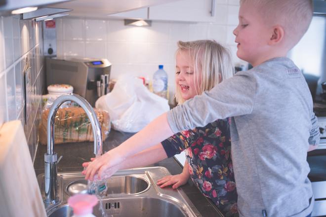 Handen wassen bij de Quooker