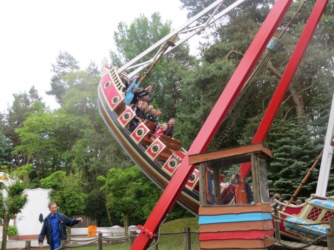 Het vliegende schip in Avonturenpark Hellendoorn