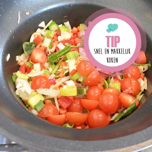 Tip: Koken met maar één pan