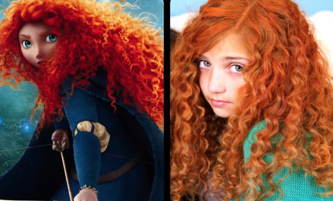 Disney haar uit de film Brave