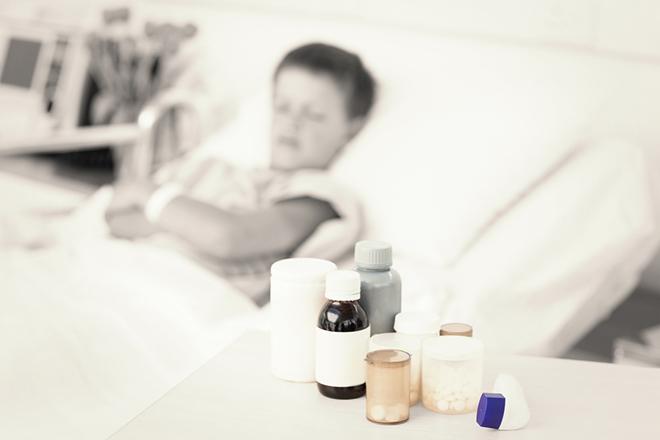 Een kind met leukemie