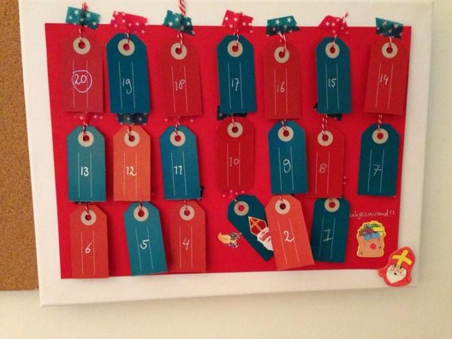 DIY Sinterklaas aftelkalender