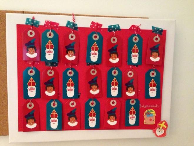 DIY aftelkalender Sinterklaas