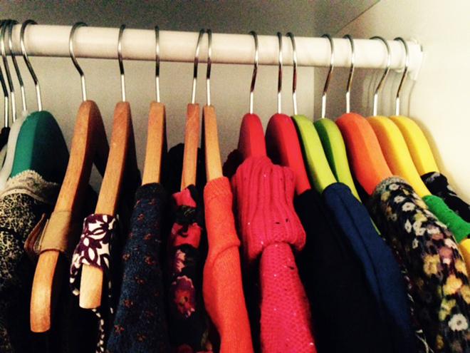 kledingkast uitmesten