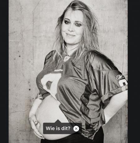 Anouk zwanger van de zesde