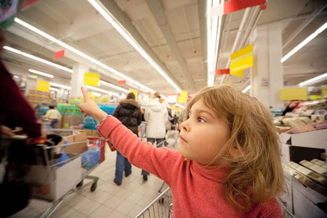 Naar de supermarkt met je peuter