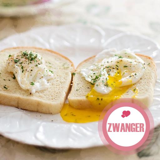 Flubber-eieren eten met je bolle buik