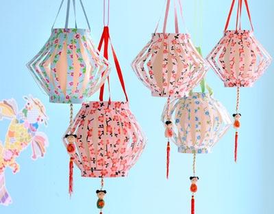 Lampionnen maken met behang