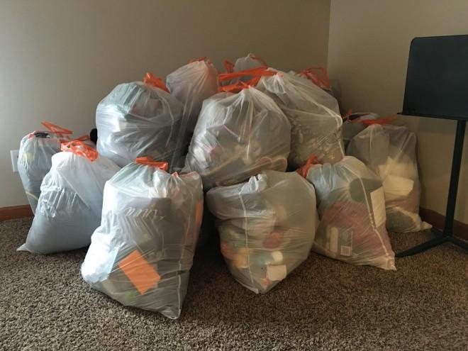 opruimen vuilniszakken