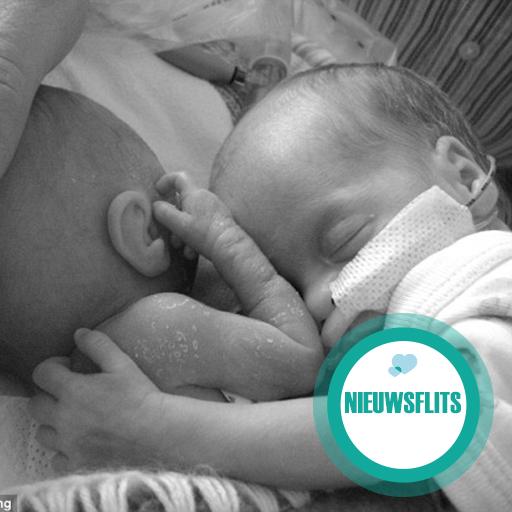 Wauw! Premature baby overleeft dankzij contact met haar tweelingzusje