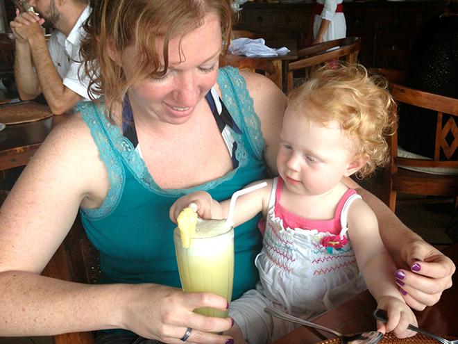 Verre reis maken met kinderen - eten en drinken