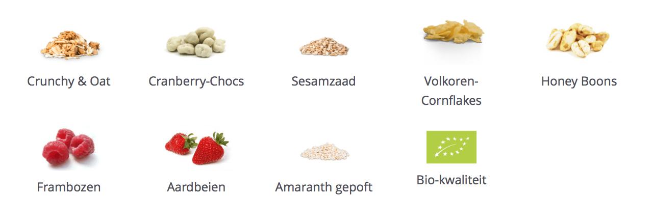 Ingredienten Mymuesli
