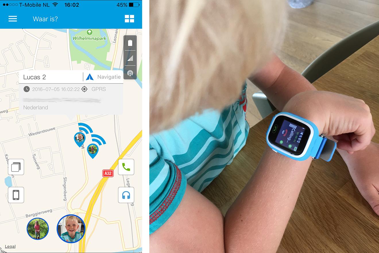GPS horloge kids