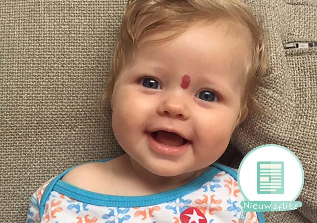 Zieke baby Rebel is in Nederland uitbehandeld