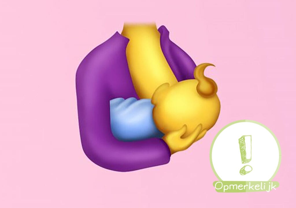 YES!! Eindelijk! Een borstvoeding EMOJI!