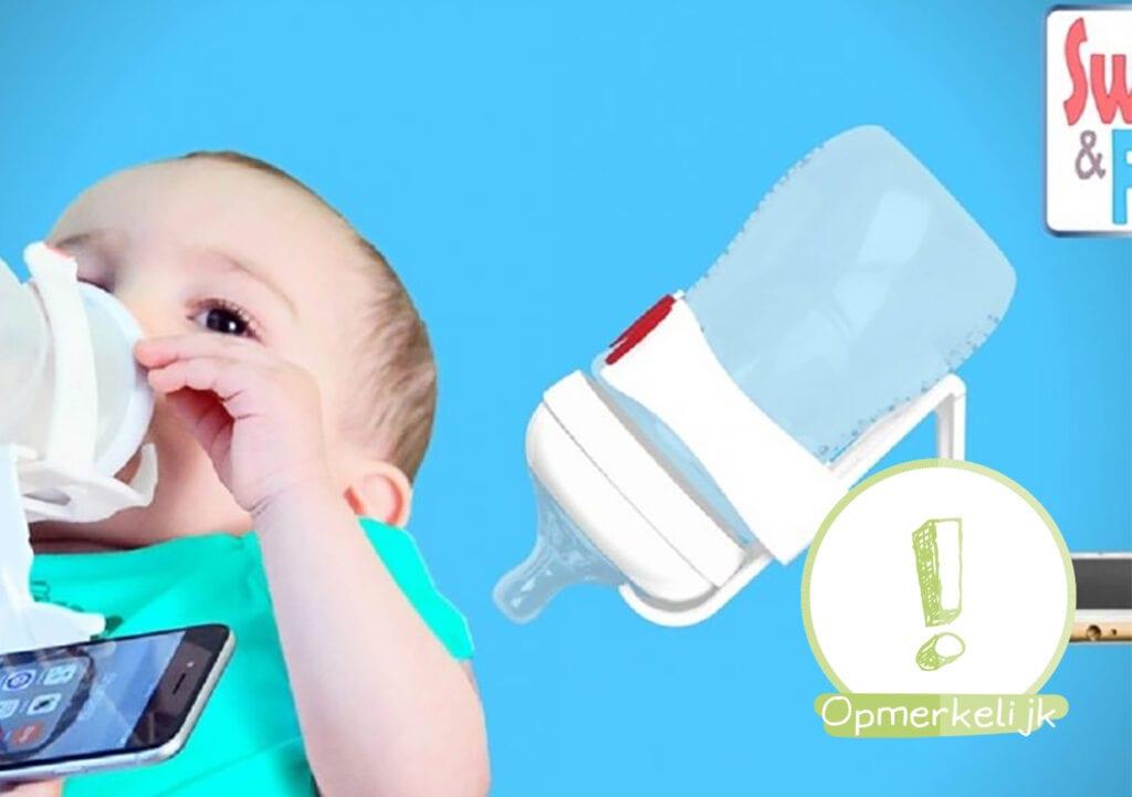 Bizarre multitask gadget voor flesvoedende mama's