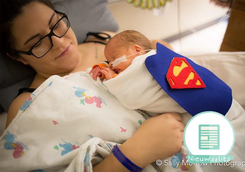 Ziekenhuispersoneel kleedt prematuren baby's aan als Superhero's