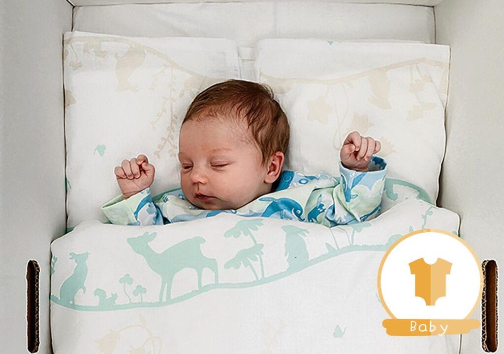 Ook goedgevulde slaapdozen voor Nederlandse baby's