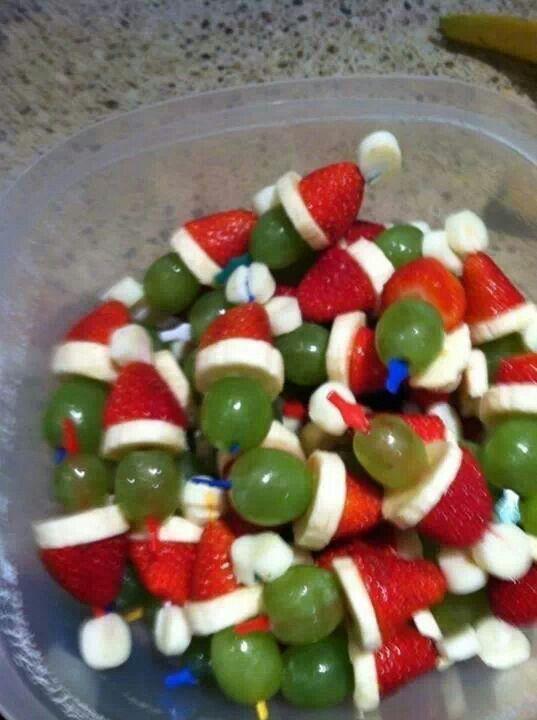 fruit kerstpoppetjes