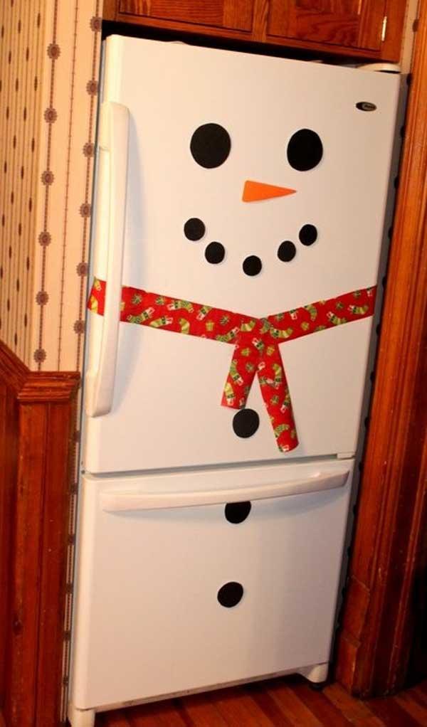 Sneeuwpop koelkast