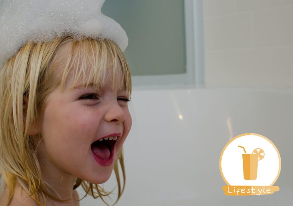 Elke dag je kind wassen is helemaal niet goed voor de huid