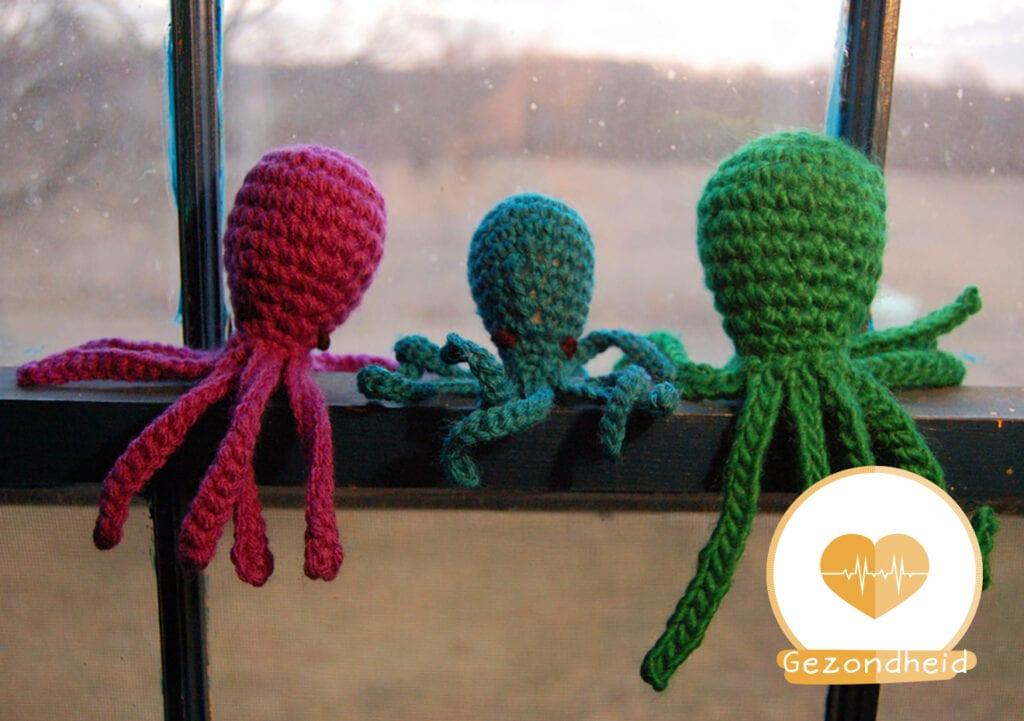 Gehaakte octopus helpt premature baby's