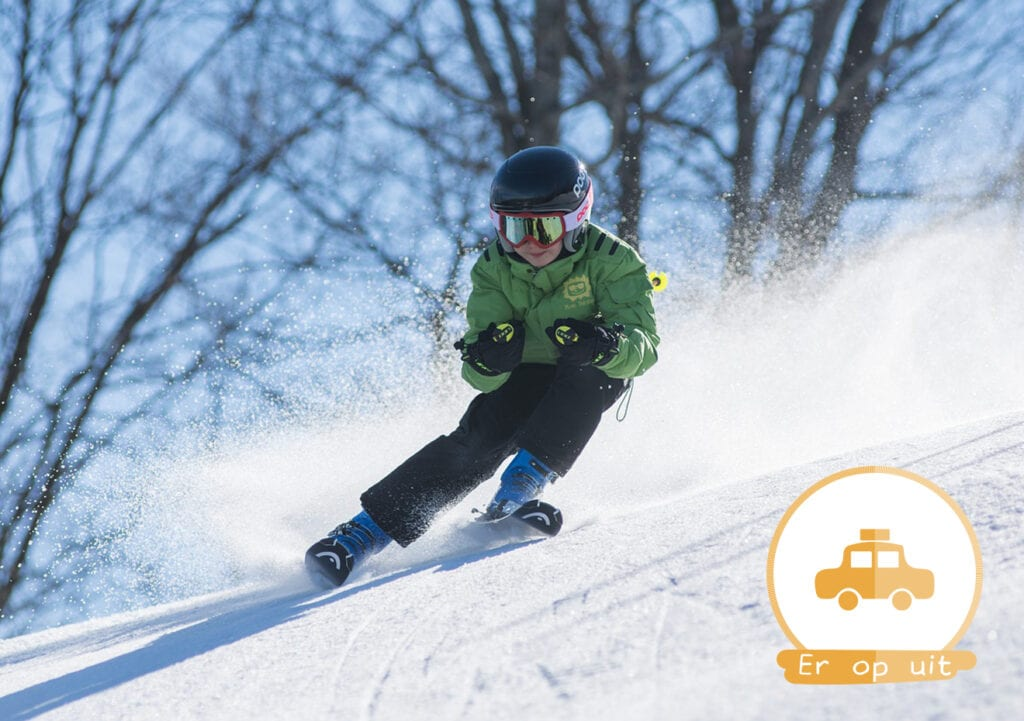 Op wintersport met een 4-jarige