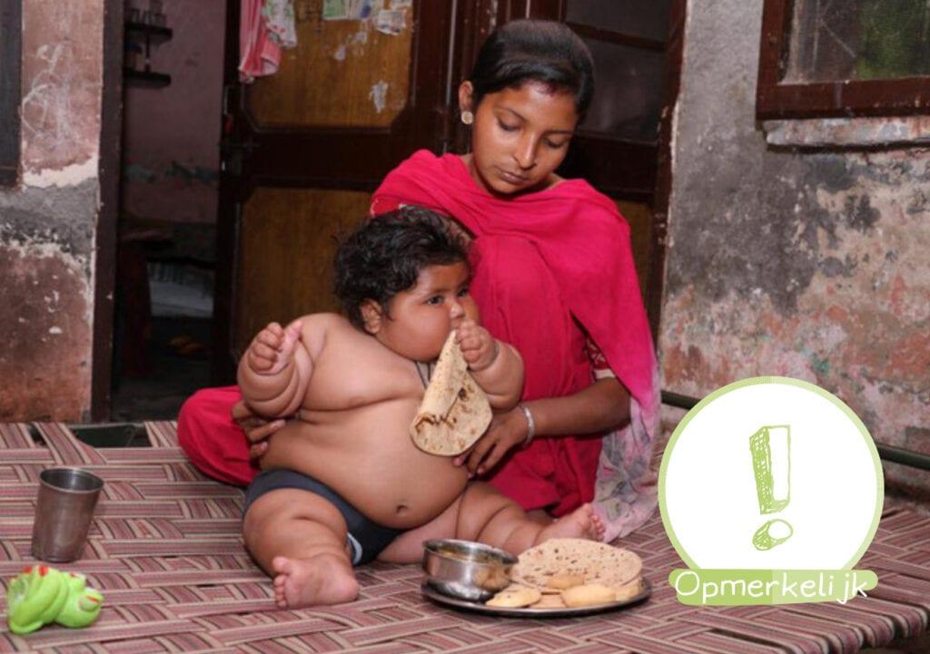 Deze baby van acht maanden weegt 17 kilo!