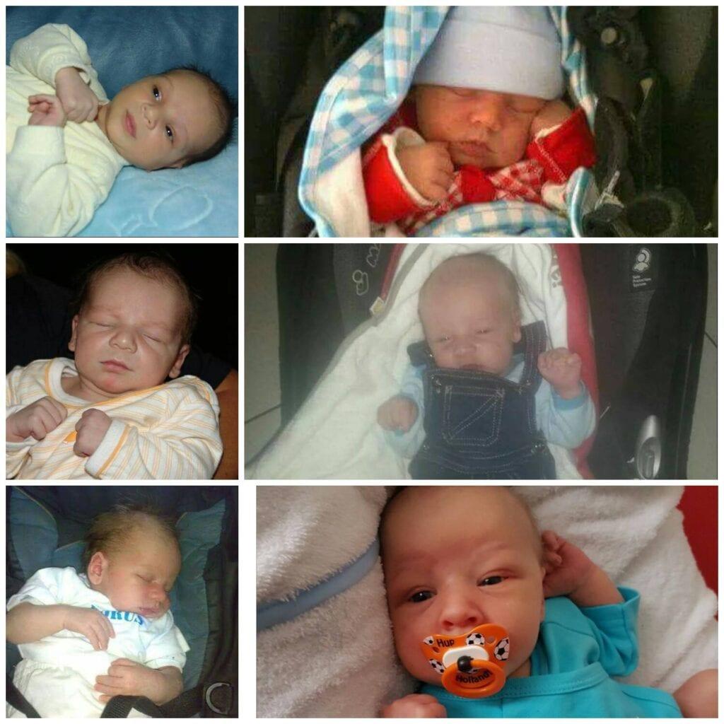 Babyfoto's baby jongens zoons anticonceptie
