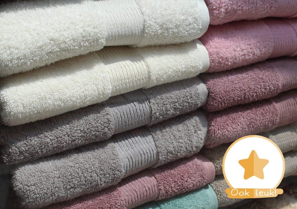 Deze handdoek, uit een gezin met twee kinderen, vertelt zijn verhaal