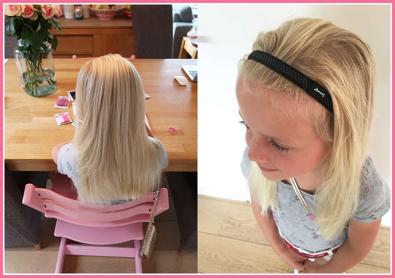 Dochters met glad en dun haar