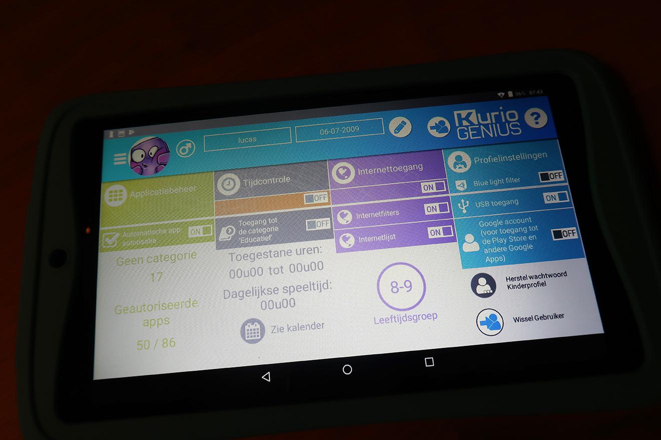 Kidsproof tablet