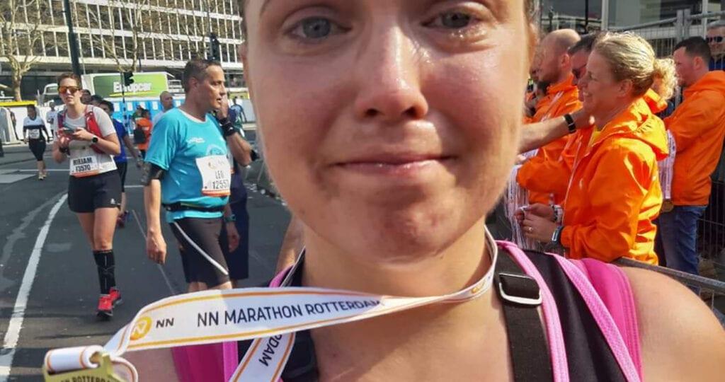 Met mijn dikke billen de Rotterdam Marathon rennen