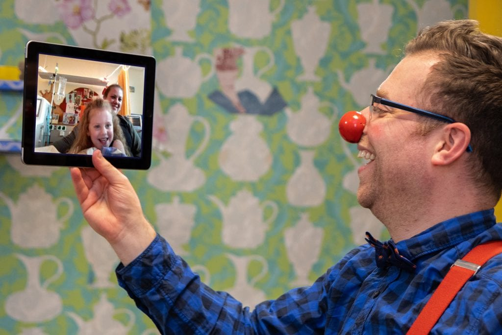 CliniClowns gaan digitaal in coronatijd