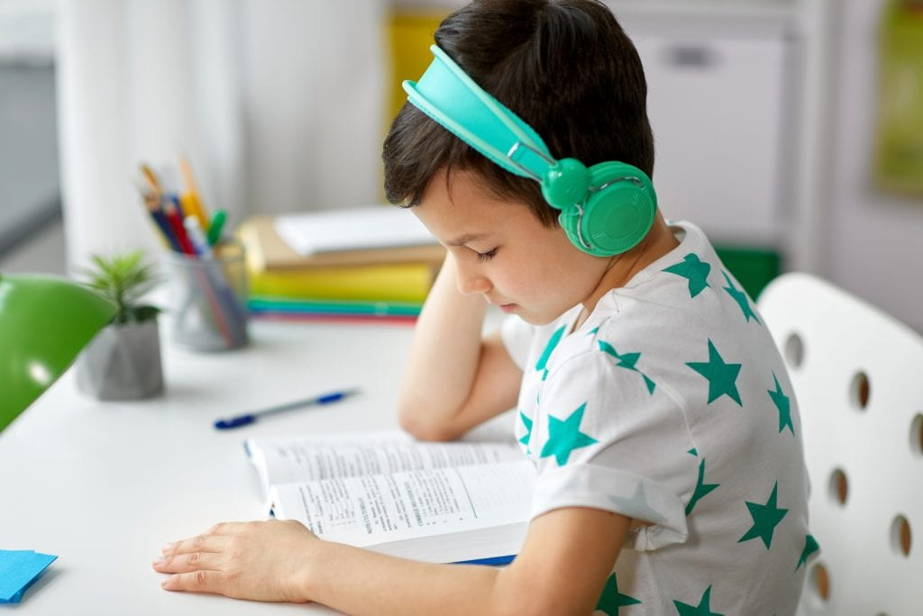 Een geluiddichte koptelefoon kind voor op school