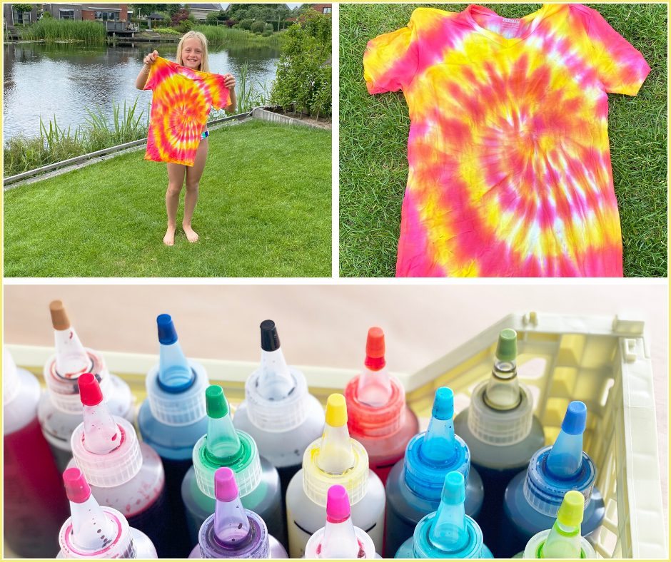 Tie Dye shirts maken met kinderen