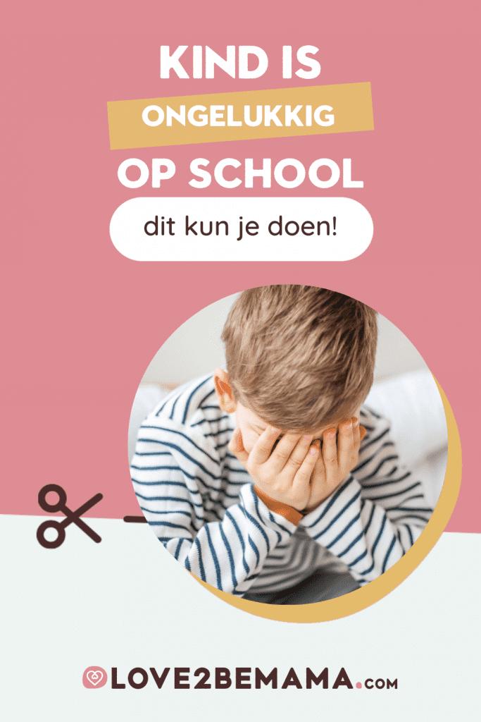 Kind ongelukkig op school