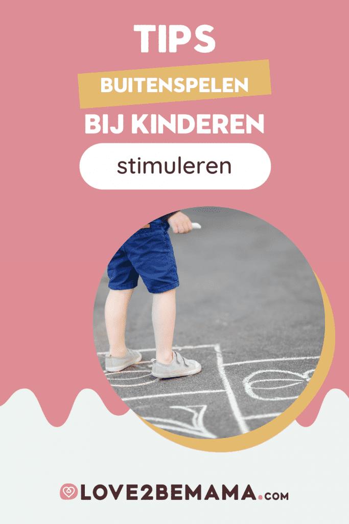Tips buitenspelen bij kinderen stimuleren.