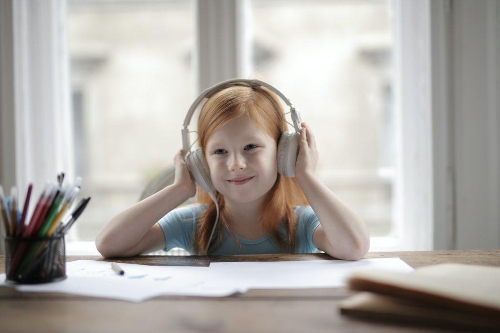 Koptelefoon kind school